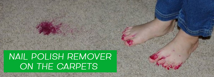 Nail Polish Remover on the Carpets
